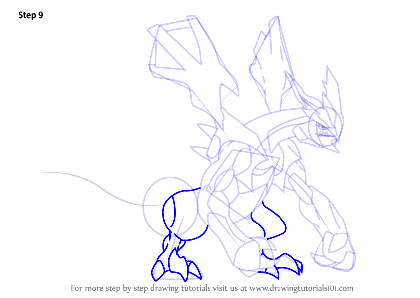 Learn How to Draw Black Kyurem from Pokemon Pokemon Step