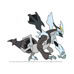 How to Draw Black Kyurem from Pokemon