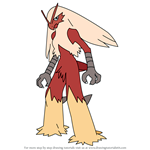 How to Draw Blaziken from Pokemon
