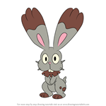 How to Draw Bunnelby from Pokemon