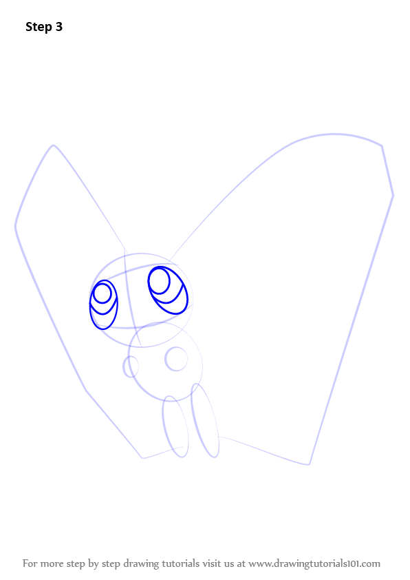 Learn how to draw butterfree from pokemon pokemon step for Free online drawing lessons step by step