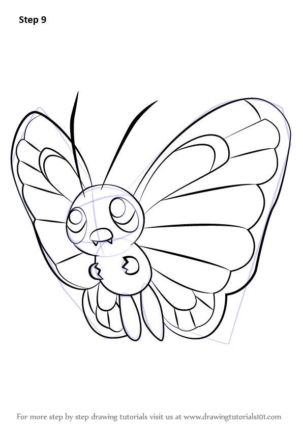 Learn How To Draw Butterfree From Pokemon Pokemon Step