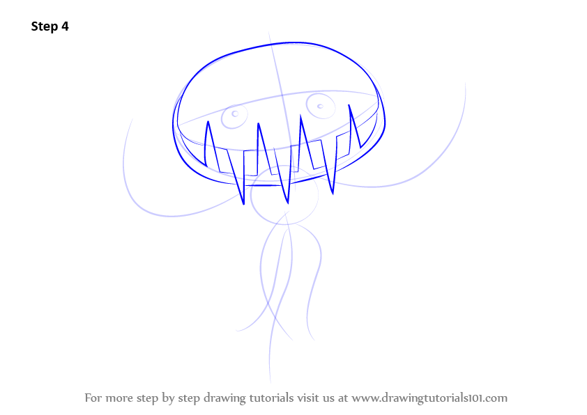 Line Drawing Step By Step : Learn how to draw carnivine from pokemon step by