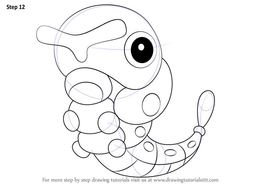 Step By Step How To Draw Caterpie From Pokemon