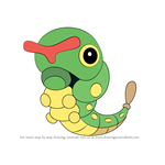 How to Draw Caterpie from Pokemon