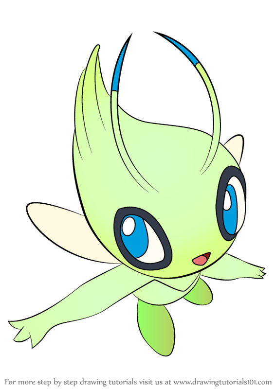 celebi pokemon coloring pages - learn how to draw celebi from pokemon pokemon step by