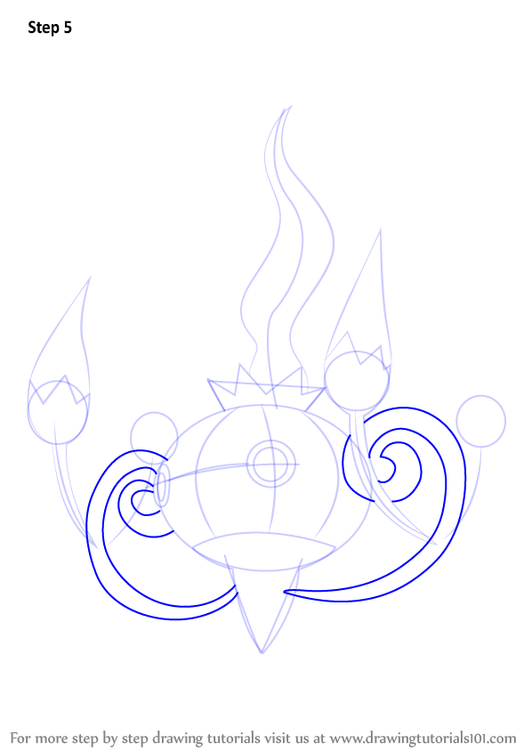 Step By Step How To Draw Chandelure From Pokemon