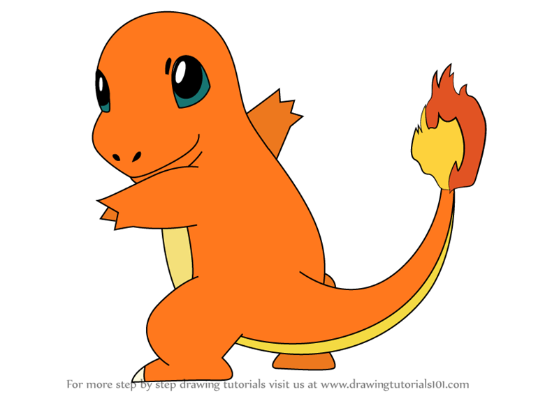 Learn How To Draw Charmander From Pokemon Pokemon Step