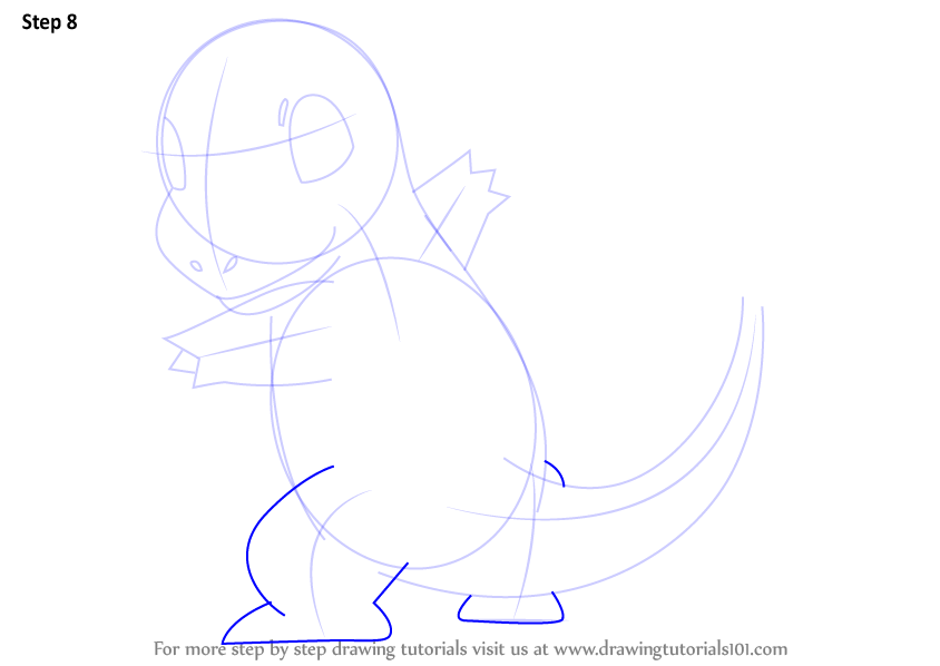 Line Drawing Step By Step : Learn how to draw charmander from pokemon step by