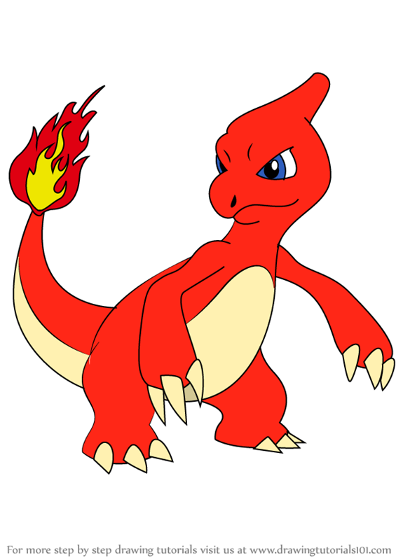 Learn How to Draw Charmeleon from Pokemon (Pokemon) Step ...
