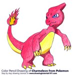 How to Draw Charmeleon from Pokemon