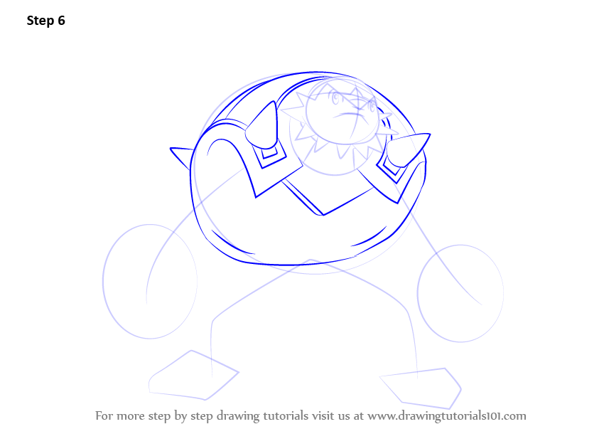 Learn How To Draw Chesnaught From Pokemon Pokemon Step