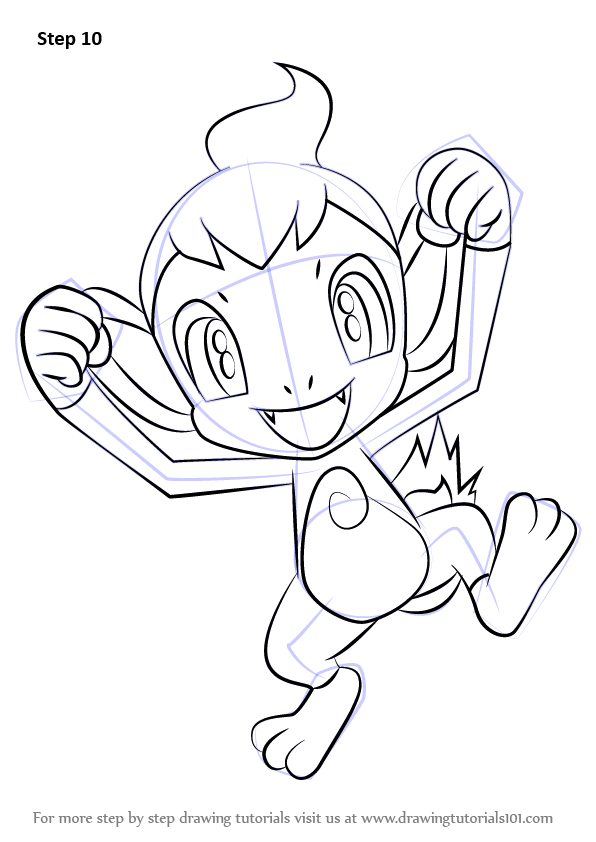 Step By Step How To Draw Chimchar From Pokemon
