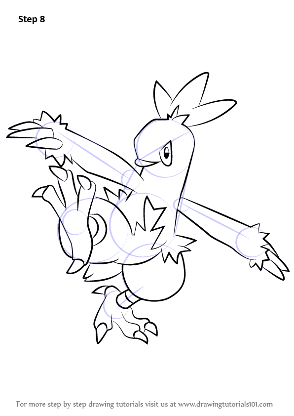 Learn How To Draw Combusken From Pokemon Pokemon Step By