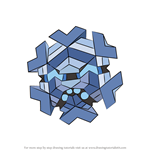 How to Draw Cryogonal from Pokemon