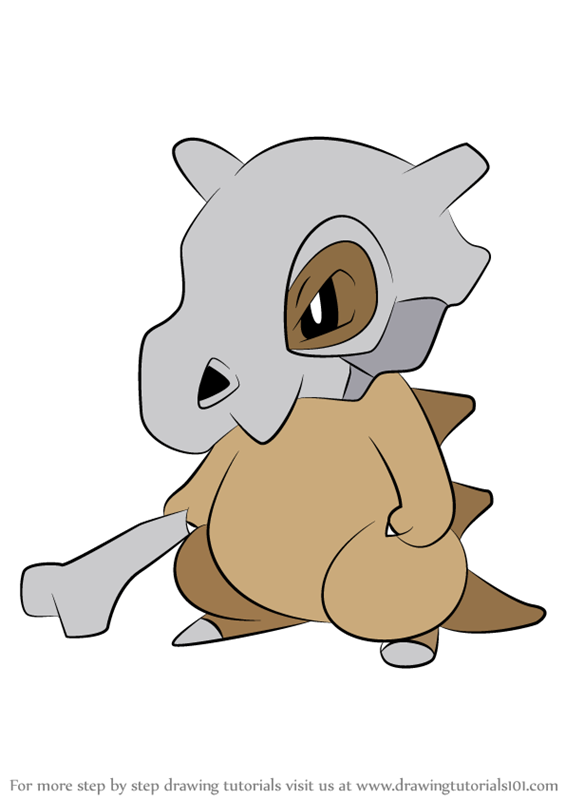 Learn How To Draw Cubone From Pokemon Pokemon Step By Step Drawing Tutorials