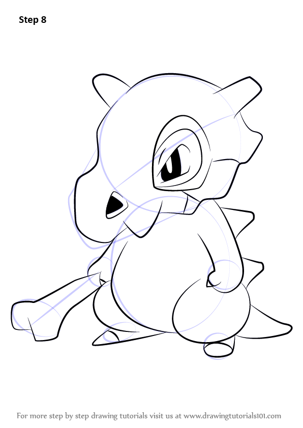 Learn How To Draw Cubone From Pokemon Pokemon Step By