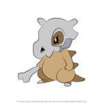 How to Draw Cubone from Pokemon