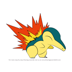 How to Draw Cyndaquil from Pokemon