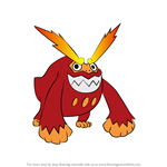 How to Draw Darmanitan from Pokemon