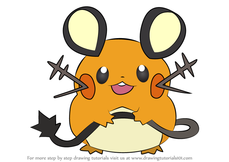 how to draw dedenne from pokemon