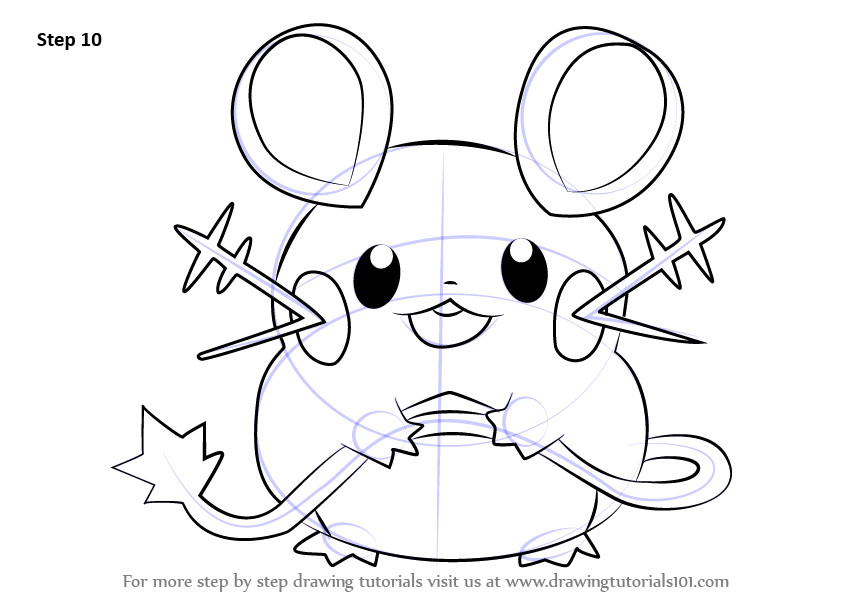 Learn How to Draw Dedenne from Pokemon (Pokemon) Step by Step ...