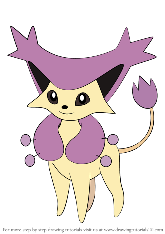 Learn How To Draw Delcatty From Pokemon Pokemon Step By