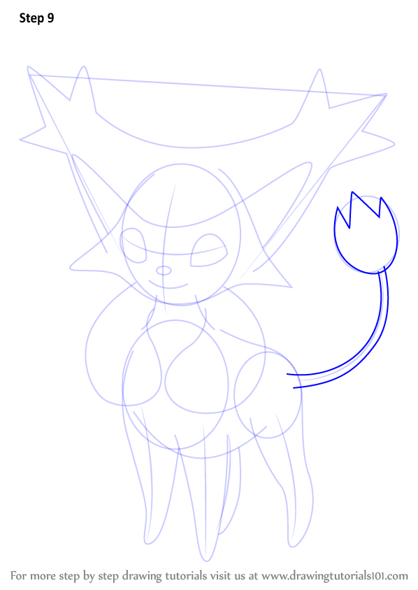 how to draw delcatty step by step