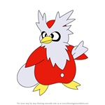 How to Draw Delibird from Pokemon