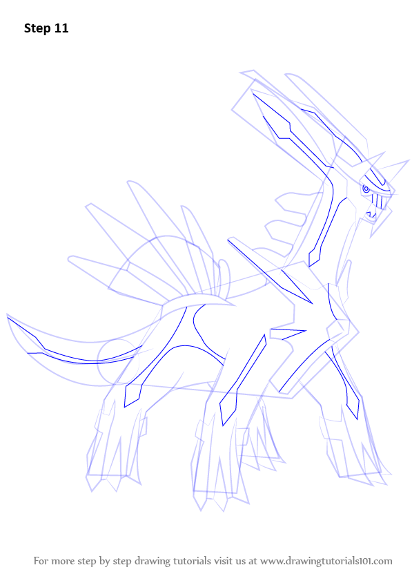 Learn How to Draw Dialga from Pokemon (Pokemon) Step by ...