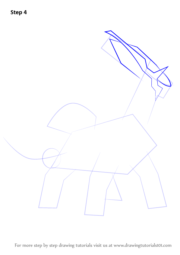 Step by Step How to Draw Dialga from Pokemon ...