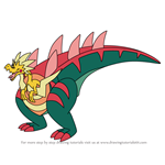 How to Draw Dracozolt from Pokemon