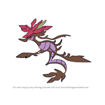 How to Draw Dragalge from Pokemon