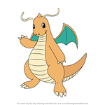 How to Draw Dragonite from Pokemon