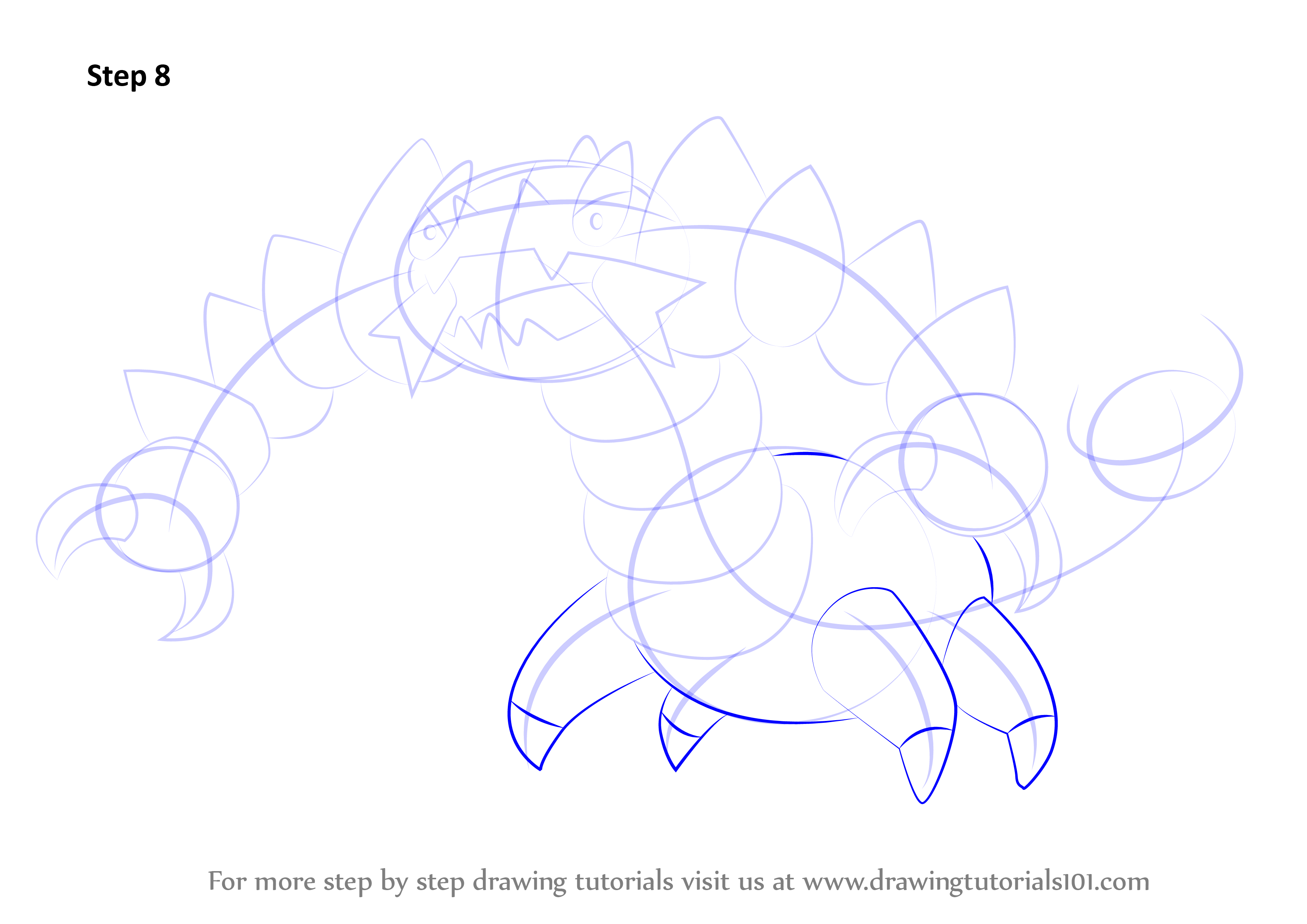 Learn How To Draw Drapion From Pokemon (Pokemon) Step By