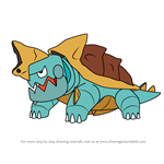 How to Draw Drednaw from Pokemon