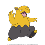 How to Draw Drowzee from Pokemon