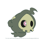How to Draw Duskull from Pokemon