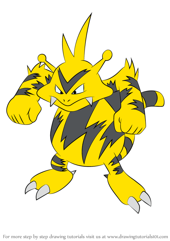 Step By Step How To Draw Electabuzz From Pokemon