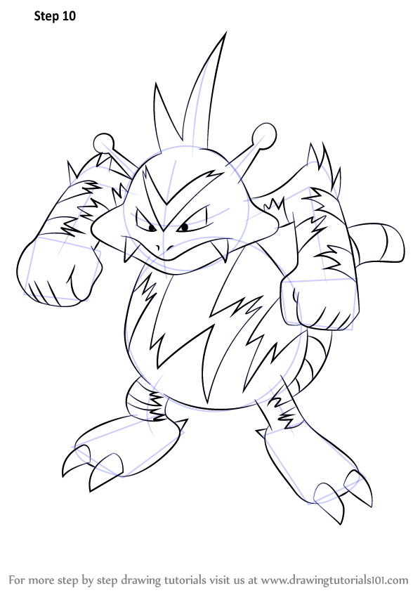 pokemon coloring pages electabuzz - photo#11