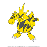 How to Draw Electabuzz from Pokemon