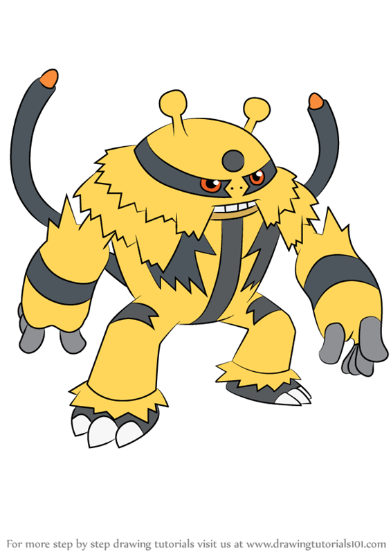 Learn How to Draw Electivire from Pokemon Pokemon Step by Step Drawing Tutorials