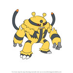 How to Draw Electivire from Pokemon