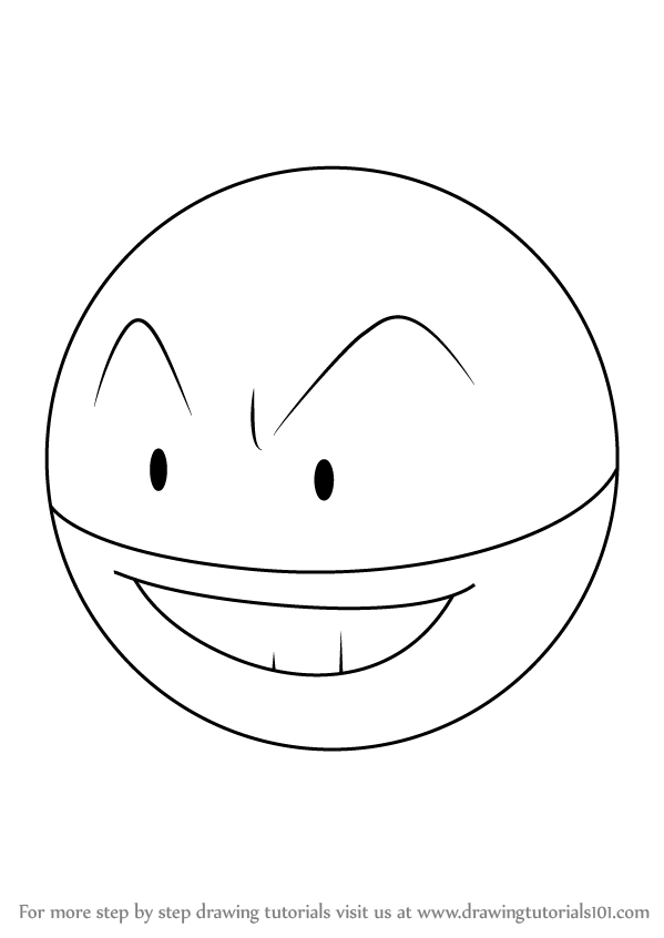 Learn How To Draw Electrode From Pokemon Pokemon Step By Step