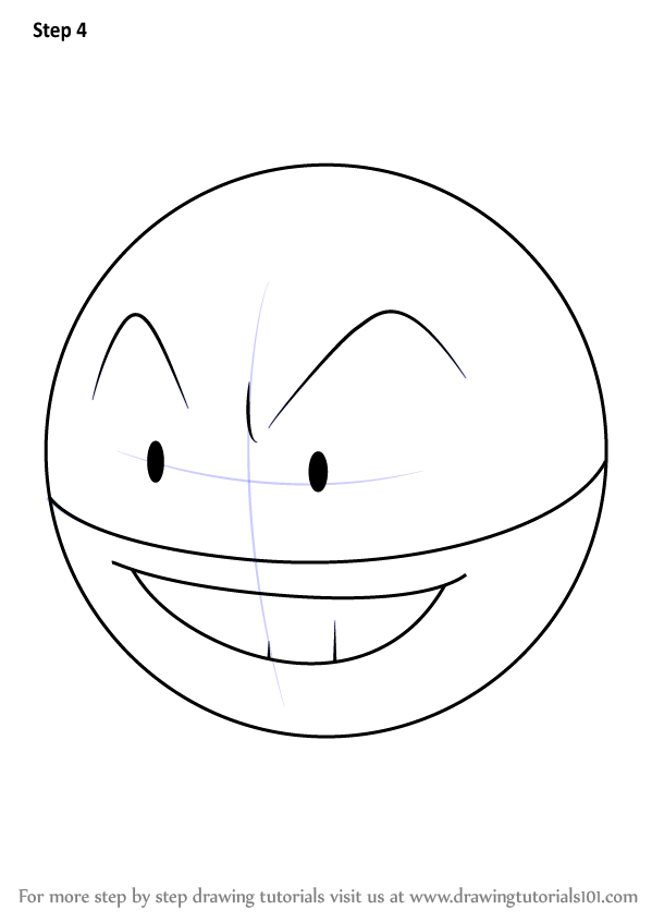 Learn How to Draw Electrode from Pokemon Pokemon Step by