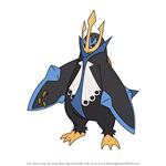 How to Draw Empoleon from Pokemon