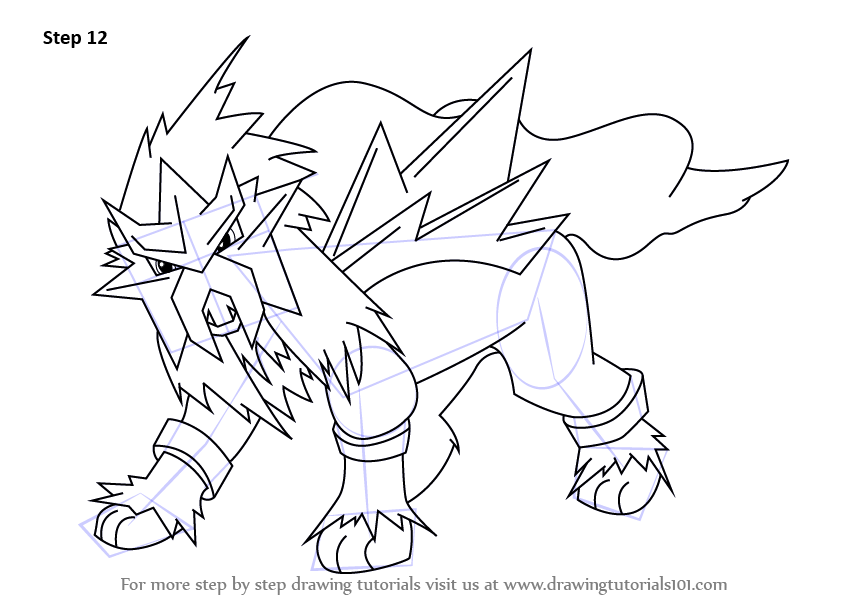 Learn How to Draw Entei from Pokemon (Pokemon) Step by ...