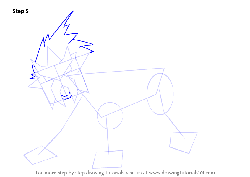 how to draw entei step by step