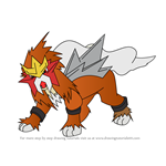How to Draw Entei from Pokemon