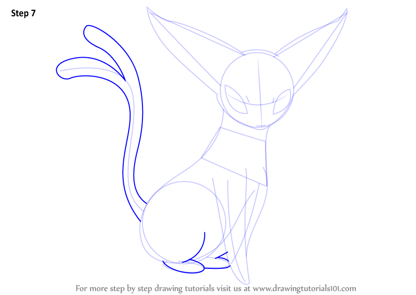 Learn How to Draw Espeon from Pokemon (Pokemon) Step by ...